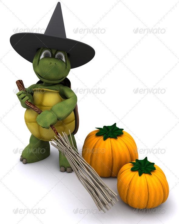 Halloween Turtle - 3D Backgrounds