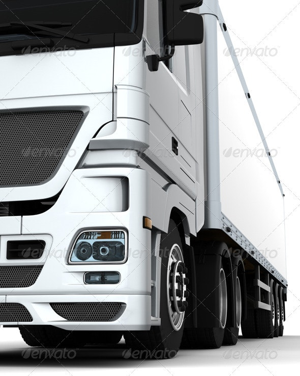 Euro HGV Truck - 3D Backgrounds