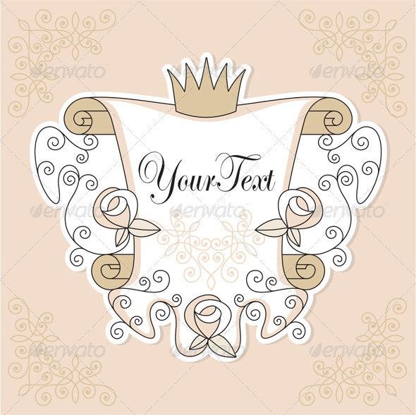 Vector invitation design with roses - Invitations Cards & Invites