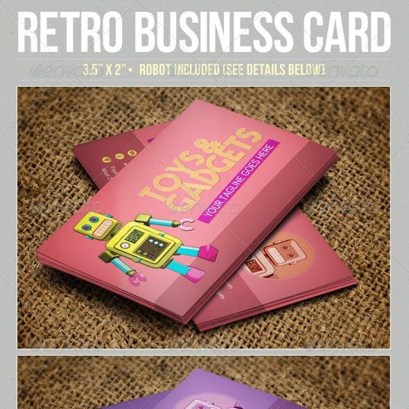 Retro Robot Business Card