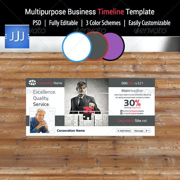 Multipurpose Business Facebook Timeline 3