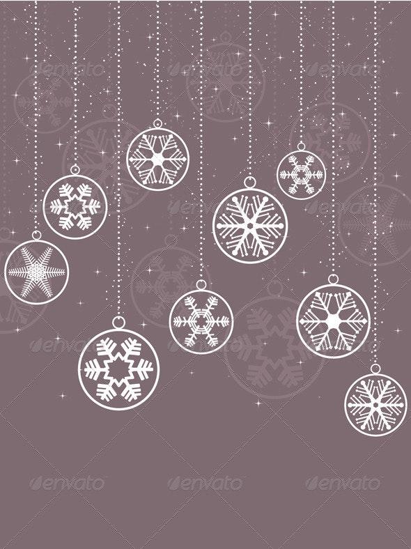 Decorative snowflake background - Christmas Seasons/Holidays