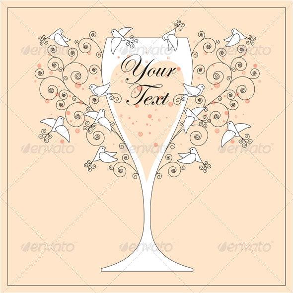 Vector invitation design with doves - Invitations Cards & Invites