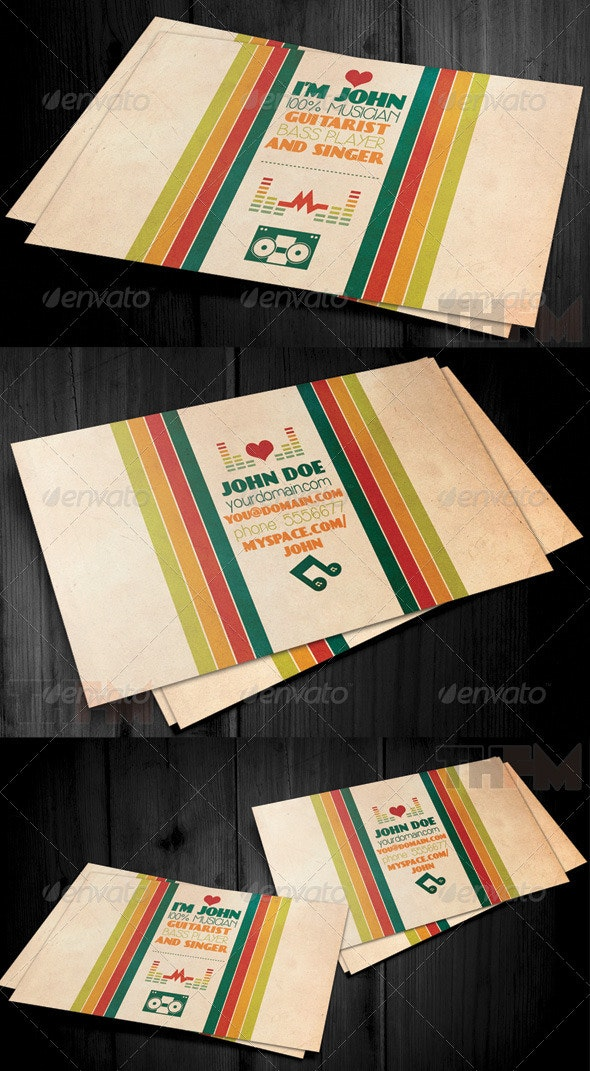 Vintage and Retro Business Card - Retro/Vintage Business Cards