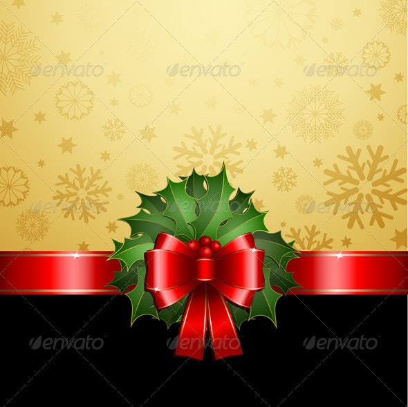 Christmas Holly Background - Christmas Seasons/Holidays