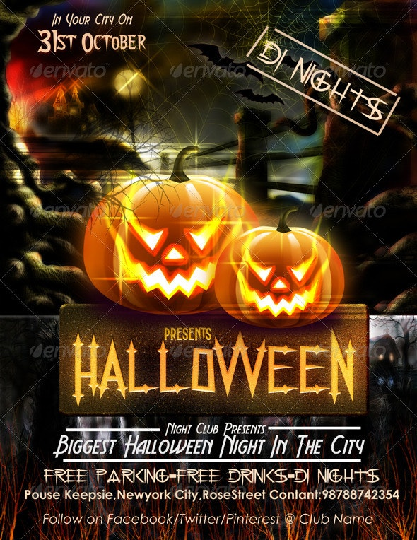 Halloween Flyer Template - Events Flyers