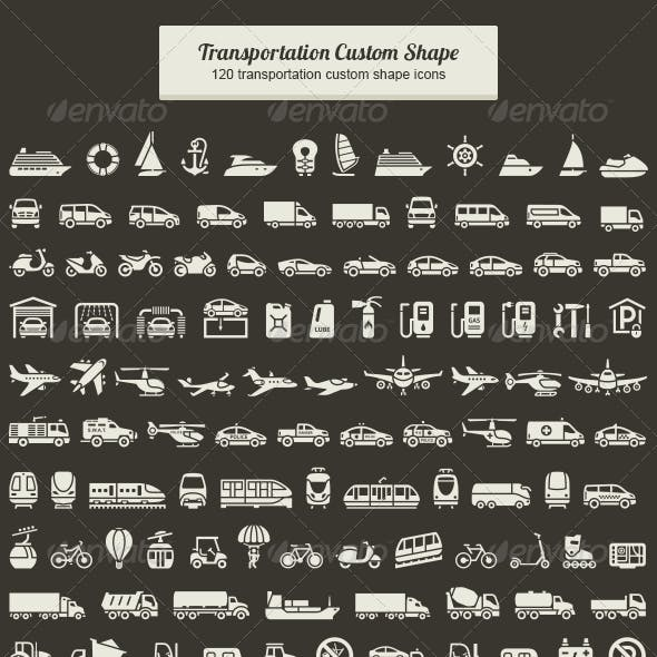 Transportation Custom Shape