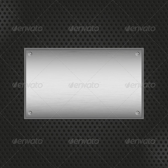 Metal Plate Background - Backgrounds Decorative