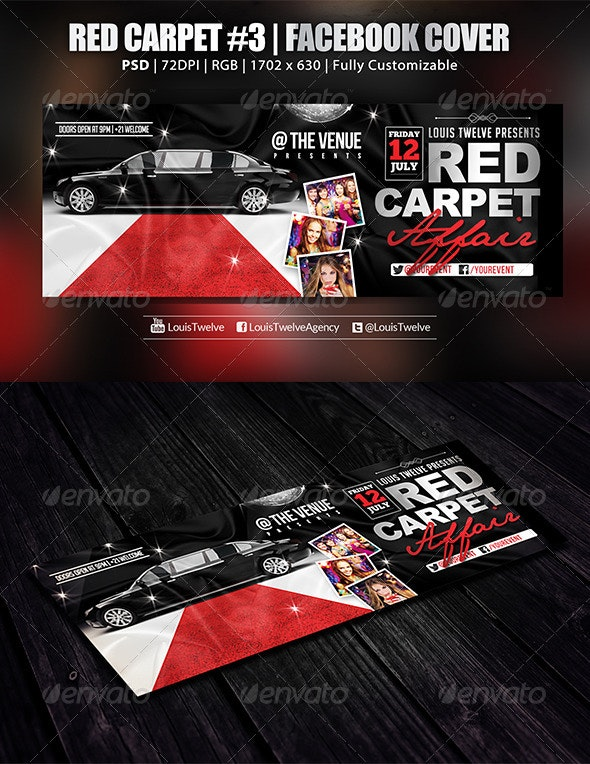 Red Carpet #3 | Facebook Cover - Facebook Timeline Covers Social Media