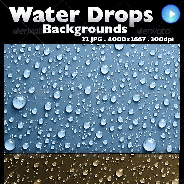 22 Water Drops Backgrounds