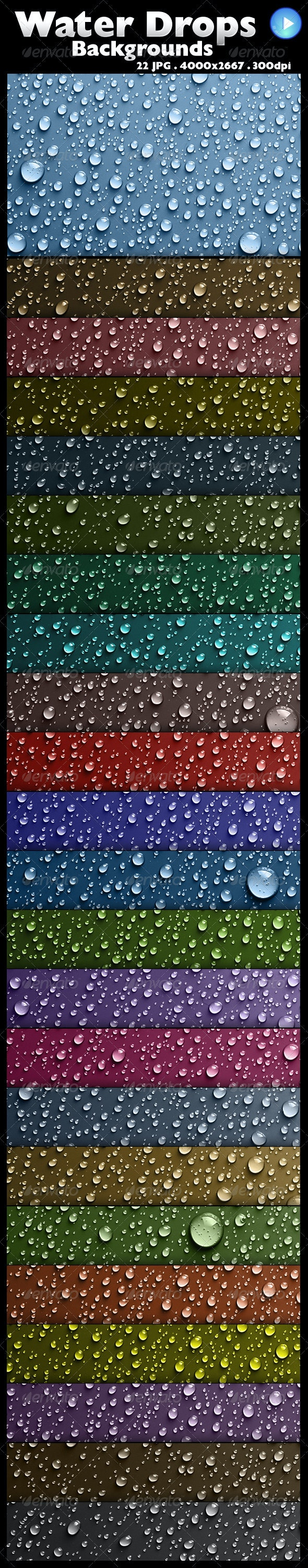22 Water Drops Backgrounds - Backgrounds Graphics