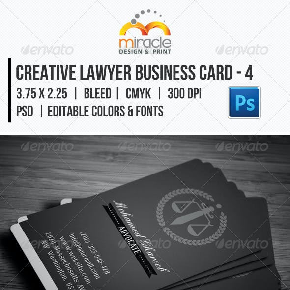 Creative Lawyer Business Card #4