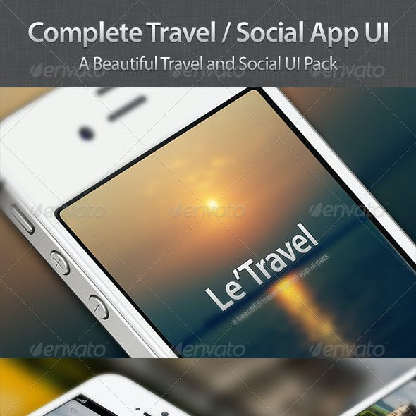 Travel / Social App UI Pack