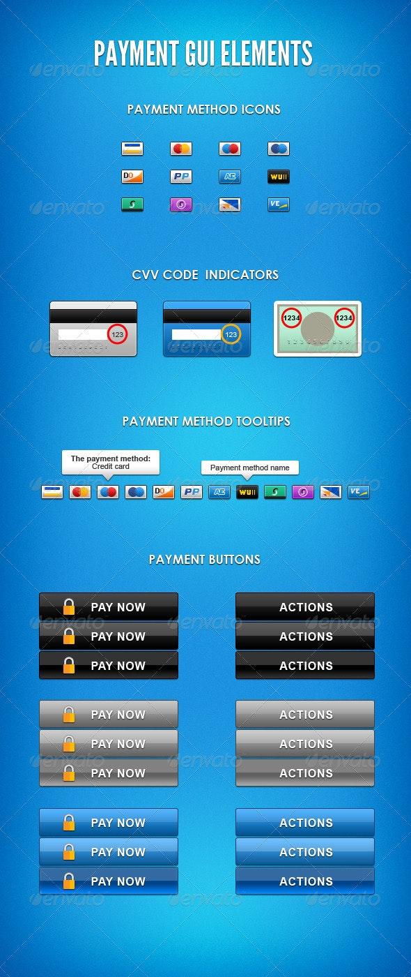 Payment GUI Elements - User Interfaces Web Elements