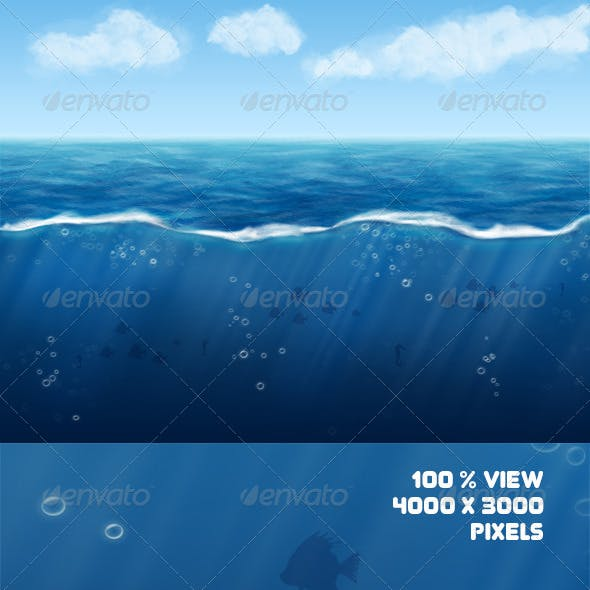 Ocean with Underwater Background