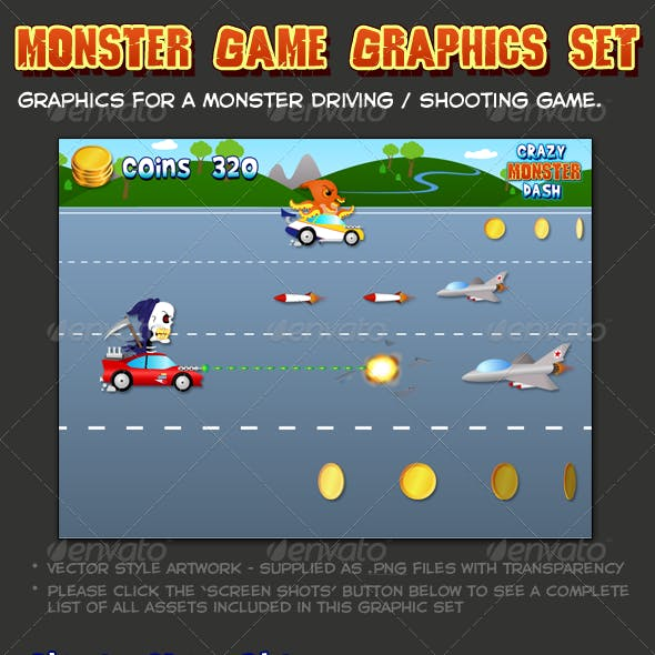 Monster Game Graphic Set