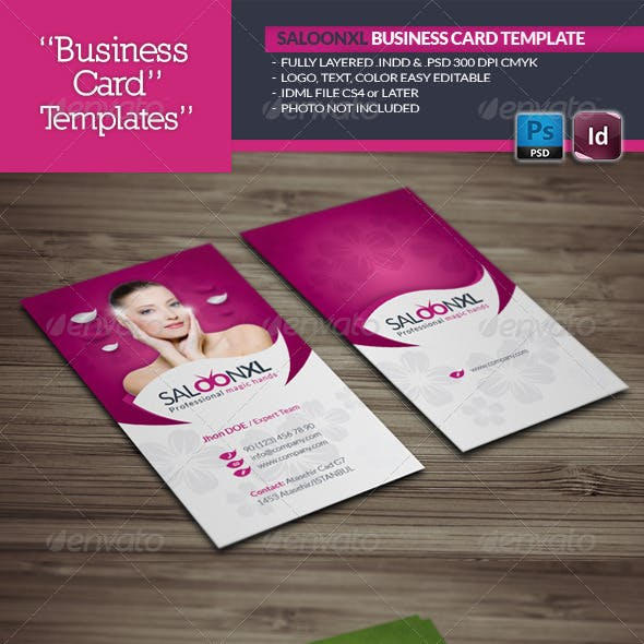 Saloon Business Card Template