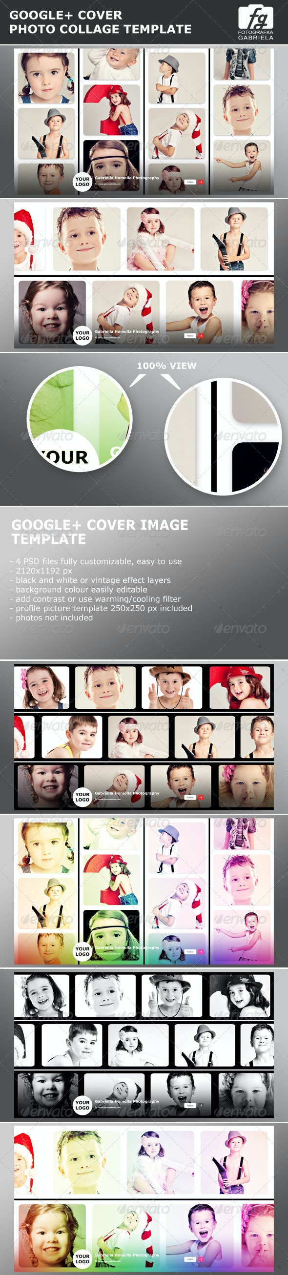 Google Photo Collage Photoshop Template By Fotografkagabriela Graphicriver