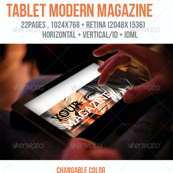 iPad & Tablet Modern Magazine