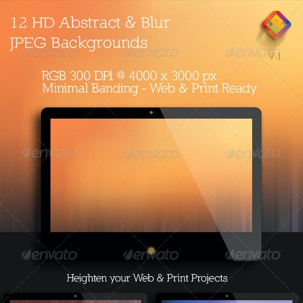 HD Abstract and  Blur Backgrounds V.1