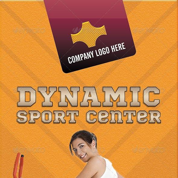 Sport Center Roll-Up Banner PSD
