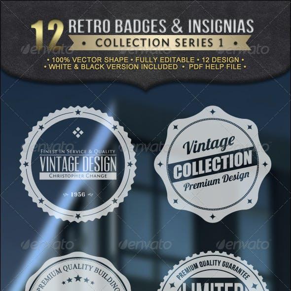 Retro Badges Insignias Collection V1