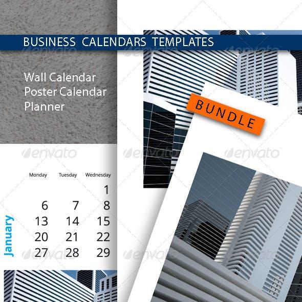 Business Calendars Templates Bundle 2015 (2014)