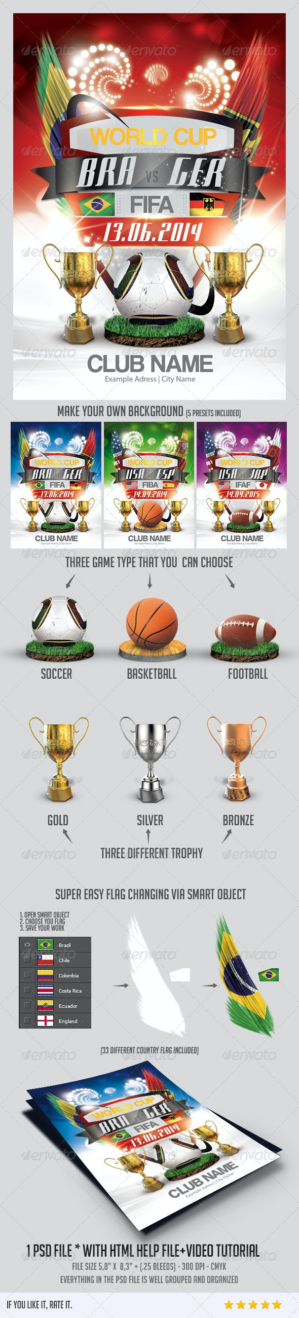 World Cup Flyer - Sports Events