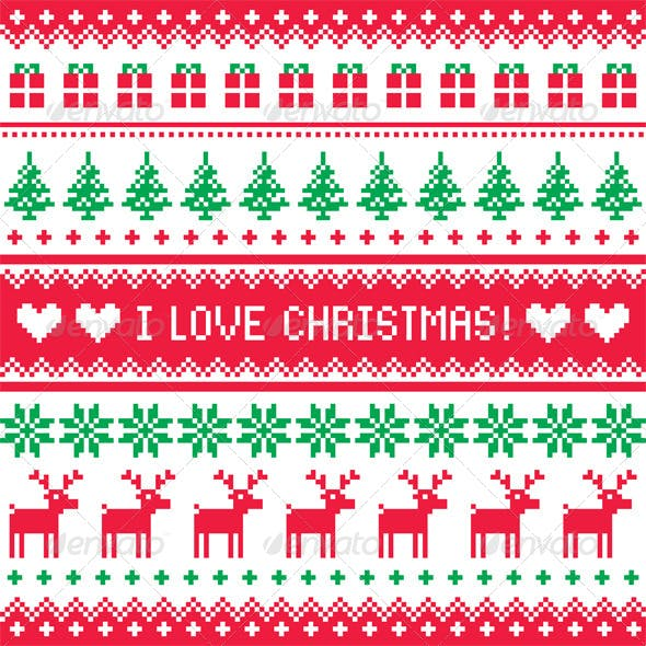 I love Christmas Pattern