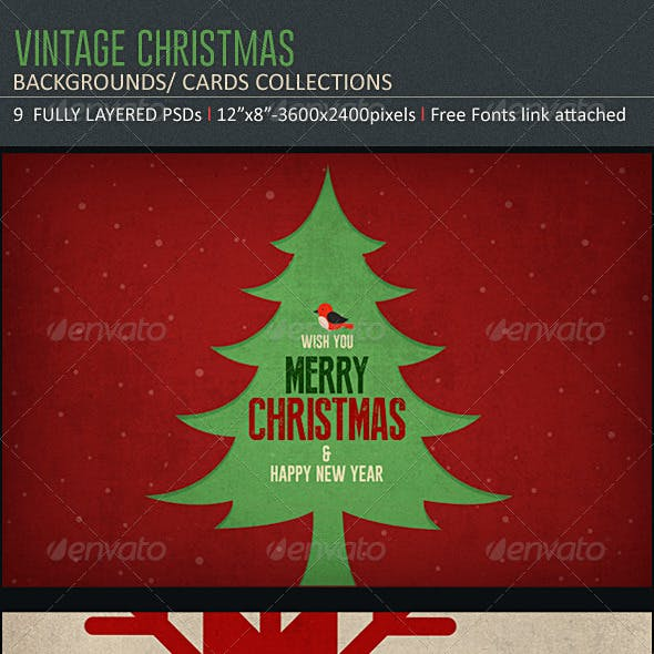 Vintage Christmas Backgrounds