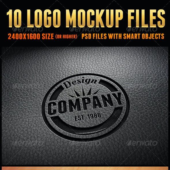 10 Logo Mockup Files