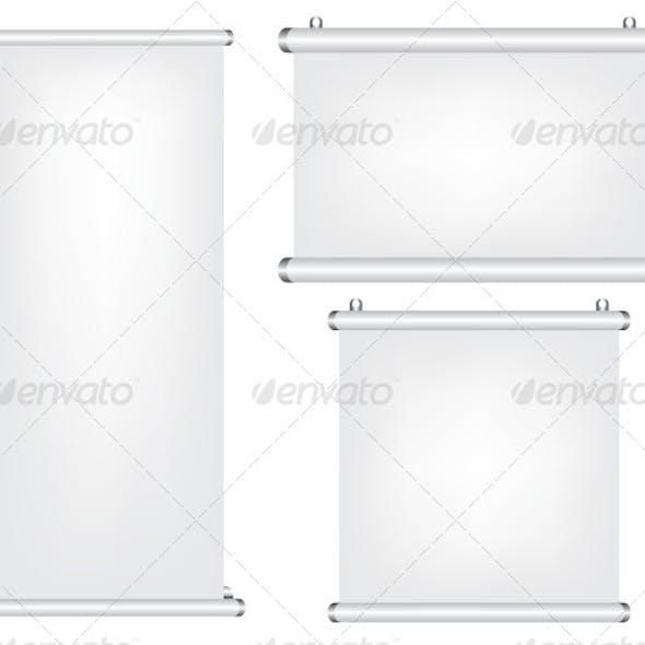 Roll Up and Projector Screen Illustration