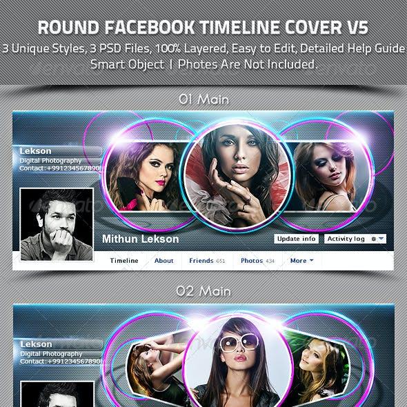 Round Facebook Timeline Cover V5