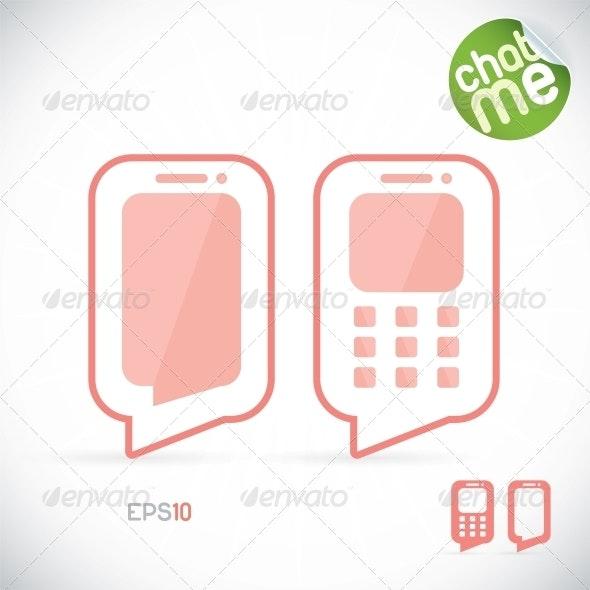 Phone Chat Illustration - Miscellaneous Conceptual