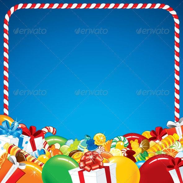 Template for Happy Birthday Greeting Card - Birthdays Seasons/Holidays