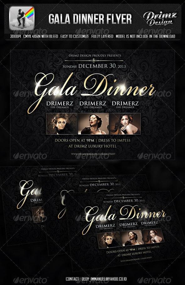Gala Dinner Flyer - Events Flyers