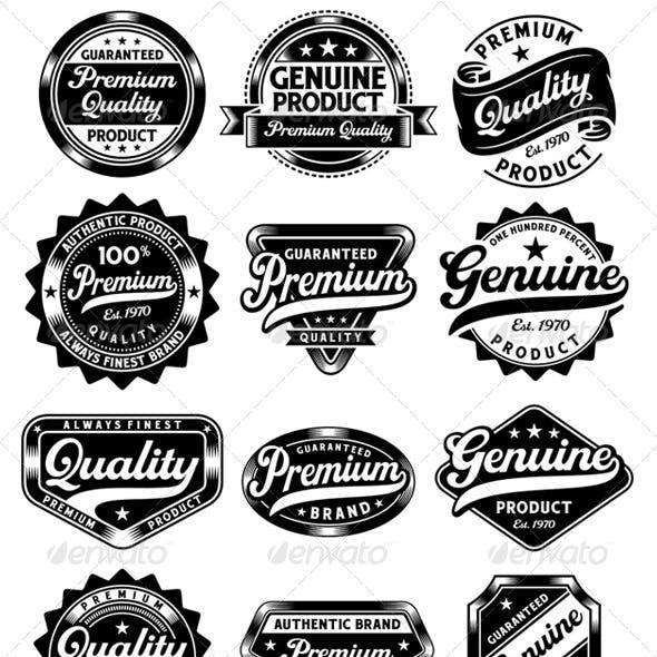 Set of Premium Quality and Genuine Vintage Labels