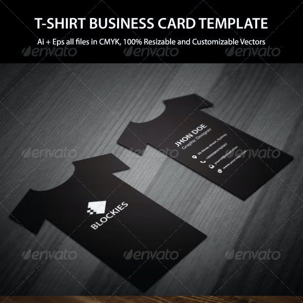 T-Shirt Business Card Template
