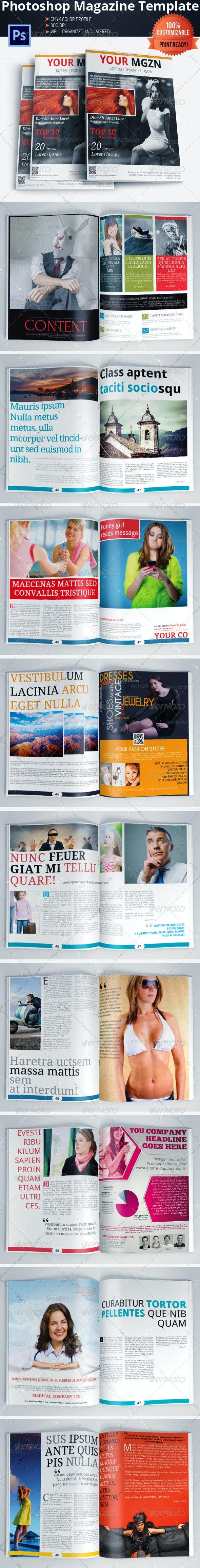 Multipurpose Magazine Template (Photoshop PSD) - Magazines Print Templates