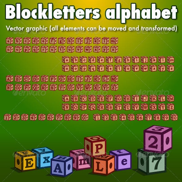 Blockletters Alphabet