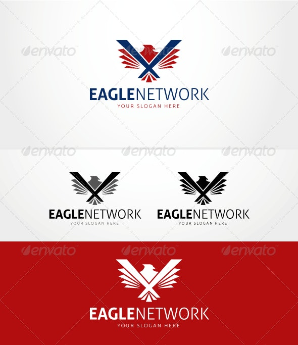 Eagle Network - Logo Template - Animals Logo Templates