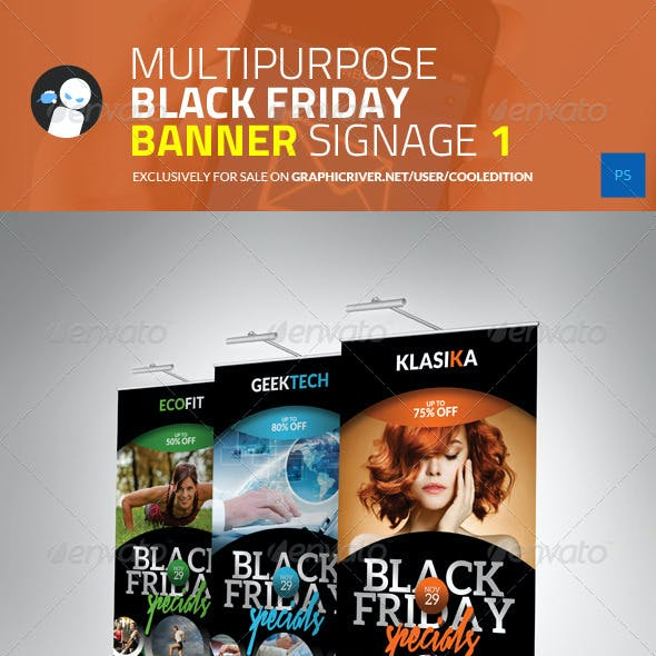 Multipurpose Black Friday Banner Signage 1