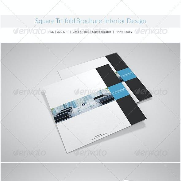 Square Tri-fold Brochure-Interior Design