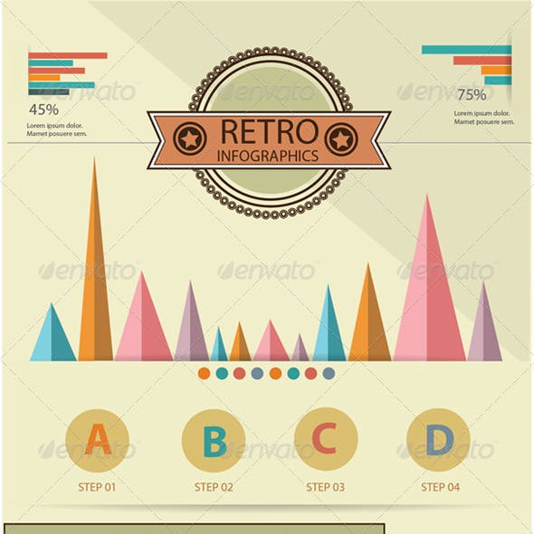 Retro Infographics Elements