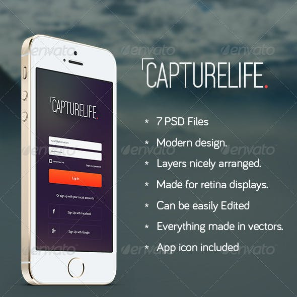 CaptureLife - App Design
