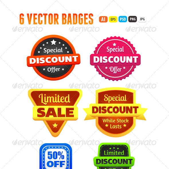 Limited Discount Sale Badges