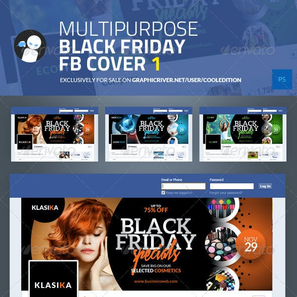 Multipurpose Black Friday Facebook Cover 1