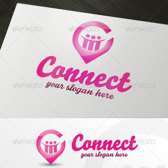 Social Business Connect Logo Template