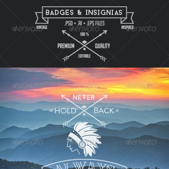 Vintage style Insignias & Badges