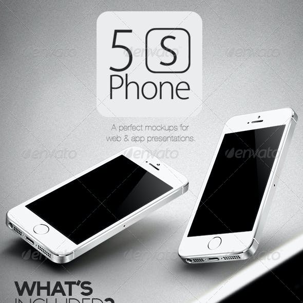 New 5S Phone Mock Ups Set